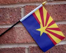 HAND WAVING FLAG (SMALL) - Arizona